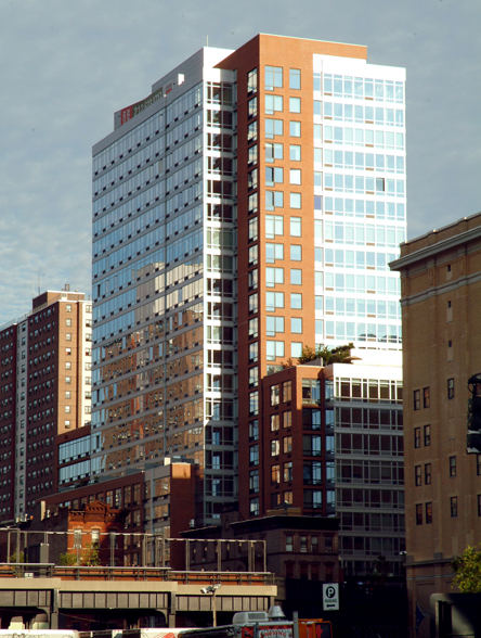 The Caledonia at 450 West 17th Street is a luxury condominum building in Chelsea.